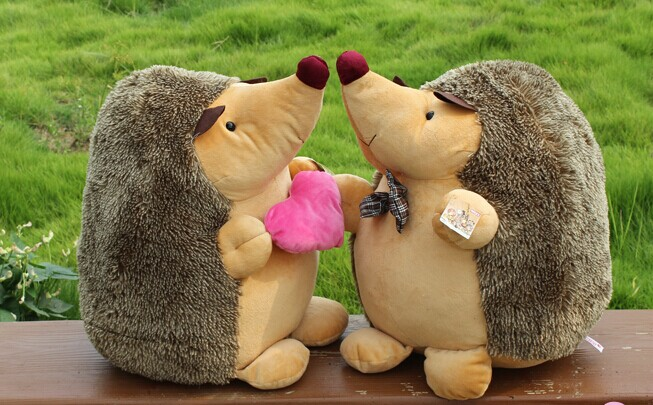 1pair 18cm super cute hedgehog plush toy creative lovers & couple plush toy wedding dolls cartoon stuffed toy & doll super cute plush toy dog doll as a christmas gift for children s home decoration 20