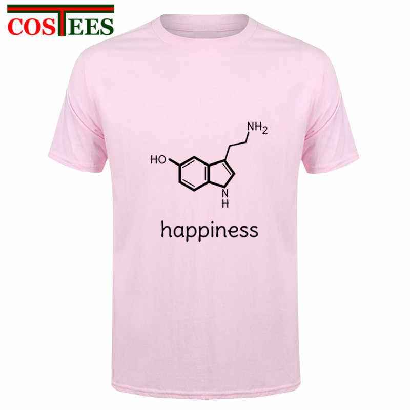 c11c4bc8 ... Funny happiness science chemistry formula T shirts physics biology  romance lovers valentines daybiochemistry T-shirt ...