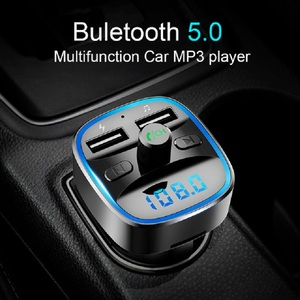 Image 2 - Bluetooth 5.0 car mp3 music player FM receiver transmitter Dual USB car quicky charger U disk / TF card lossless music player