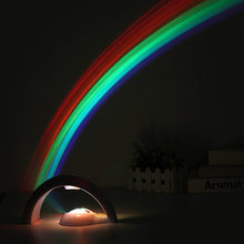 LED Colorful Rainbow Lamp LED Night Light Romantic Rainbow Projector Lamp Universal Projection Lamp Portable Home Decor(China)