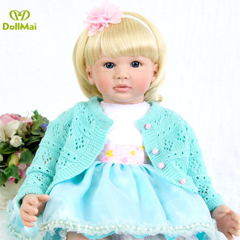 58 cm Glatte touch silikon reborn party süße realistische blonde prinzessin lucy baby puppe mädchen oder junge geburtstag geschenk bebe reborn-in Puppen aus Spielzeug und Hobbys bei  Gruppe 3