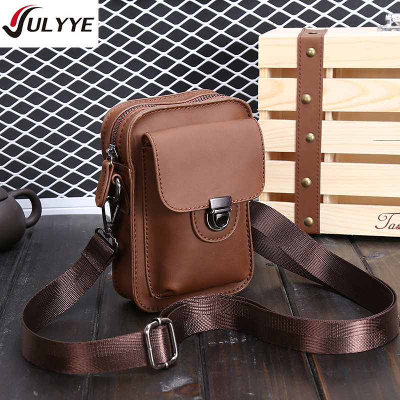 YULYYE 새로운 남자 높은 품질의 가죽 가방 패션 - 핸드백