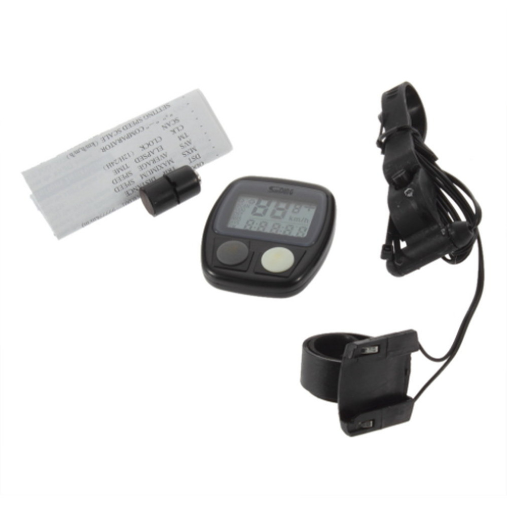 1 Pcs LCD Backlight Waterproof Auto Bike Computer Light Mode Touch Wired Bicycle Computer Cycling Speedometer Odometer