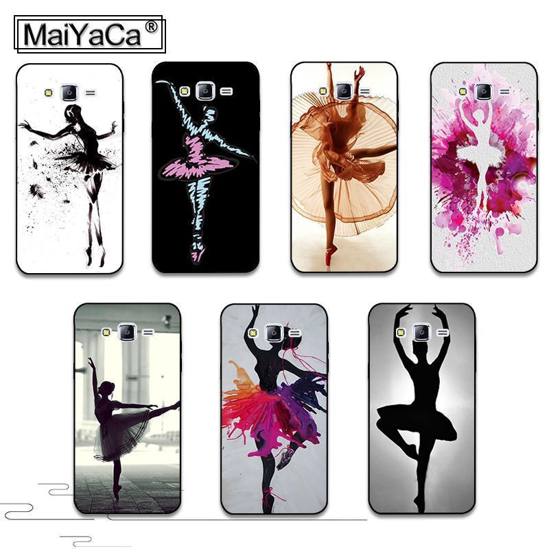 Ballet dance girl cubierta pintada colorida de plástico duro pc accesorios del t