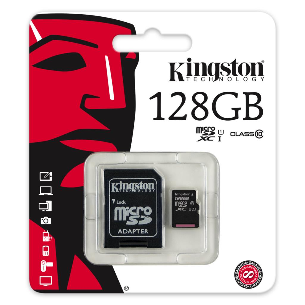 Kingston memory card 128gb micro sd card xc sdhc c...