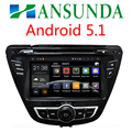 Android 5.1 Car DVD GPS for Hyundai Hyundai Elantra 2013 2014 2015 with Capacitive screen 1.6G CPU Quad Core 1G RAM Stereo NAVI