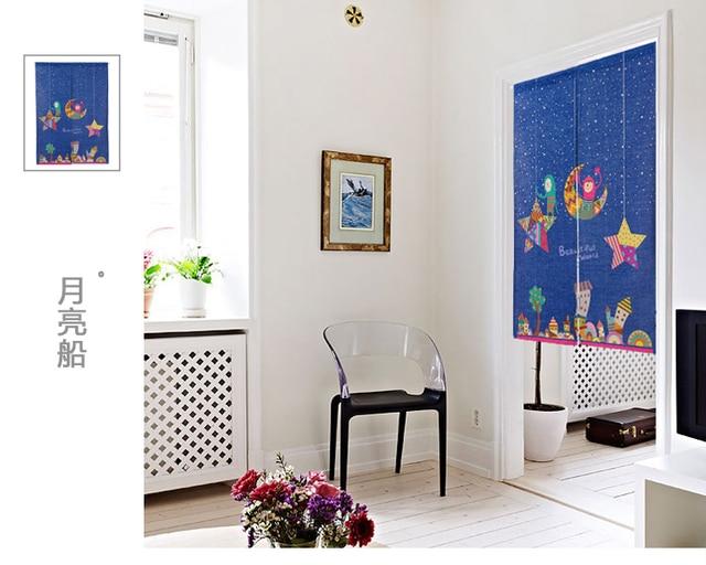 Mooie Slaapkamer Gordijnen : Japanse stijl katoen mooie cartoon chlidren deur gordijn decoratie