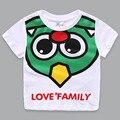 Kawaii Cartoon Dinosaur Summer Boys T Shirts Quality 100% Cotton Short Sleeve Boys Clothes 2-10T O-neck White Trolls Clothes
