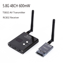 5.8G 48CH TS832 AV Transmitter & RC832 Receiver Wireless Audio/Video Image Transmission Receiver System for FPV Drone Quapcopter