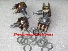 50PCS B10K Shaft=15MM 10K ohm Dual Double Rotary Potentiometer
