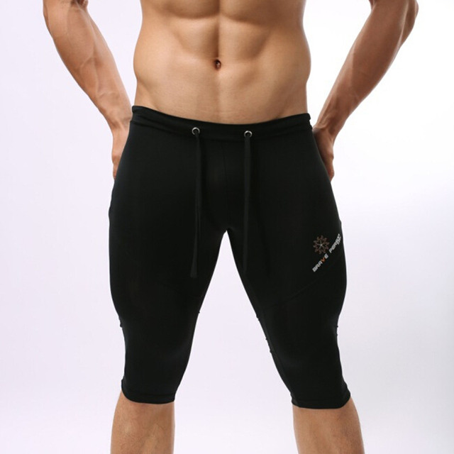 ff37aa92a2 Brave person Swimwear Men Tight Long Swim Shorts Men Swimsuit Swimming  Trunks Multifunction Compression Sport Short