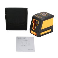 T01 Line Laser Leveler Level Vertical Horizon Cross Mini Red Self Leveling Handheld Measuring Horizontal 630 670nm