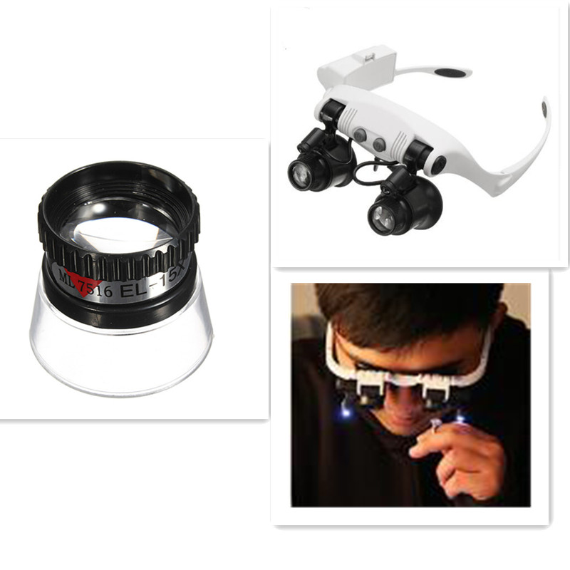 Mini Portable 15X Monocular Watch Magnifying Jewelry Maker Eye Magnifier Glass Loupe Lens Watch Repair Tool Accessories
