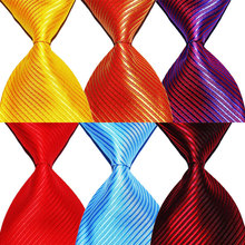 Solid Color Striped Tie Gift For Men Necktie Silk 10cm Width Fashion Jacquard Woven Formal Wear Business Wedding Party Christmas цена