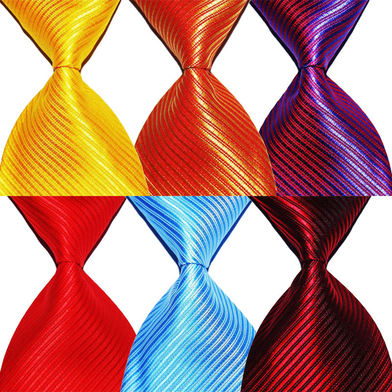 Solid Color Striped Tie Gift For Men Necktie Silk 10cm Width Fashion Jacquard Woven Formal Wear Business Wedding Party Christmas