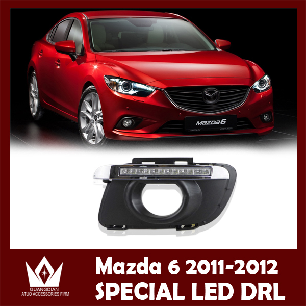 Night lord 2011-2012 for mazda 6 led drl with yellow turn signal...