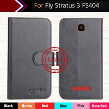 Hot!! In Stock Fly Stratus 3 FS404 Case 6 Colors Dedicated Leather Exclusive For Phone Cover+Tracking