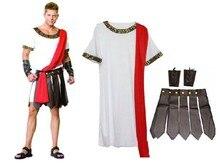 Ancient Roman costume party Masquerade mask ball men gladiators knight Julius Caesar adult cosplay theme cotume