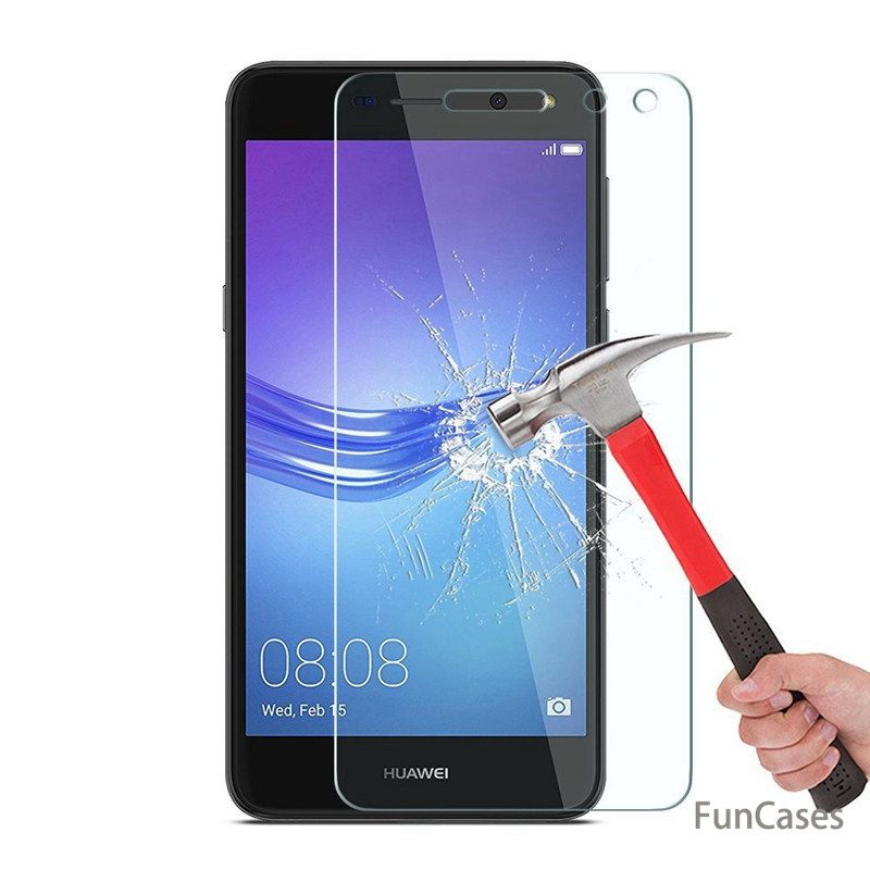 for <font><b>Huawei</b></font> <font><b>Y6</b></font> <font><b>2017</b></font> Tempered Glass Screen Protector for <font><b>Huawei</b></font> <font><b>Y6</b></font> <font><b>2017</b></font> MYA-L11 MYA-L41 9H 2.5D Clear Glass Protective Cover Film image