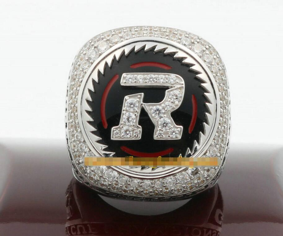 Free Shipping 2016 Ottawa Redblacks The 104th Grey <font><b>Cup</b></font> Championship <font><b>Ring</b></font> With Wooden Box solid fan gift men Drop Shipping