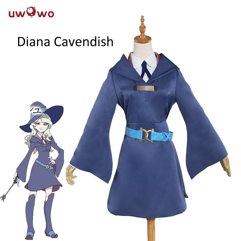 UWOWO Diana Cavendish Cosplay Little Witch Academia School Uniform Women Costume Anime Little Witch Academy Cosplay Diana
