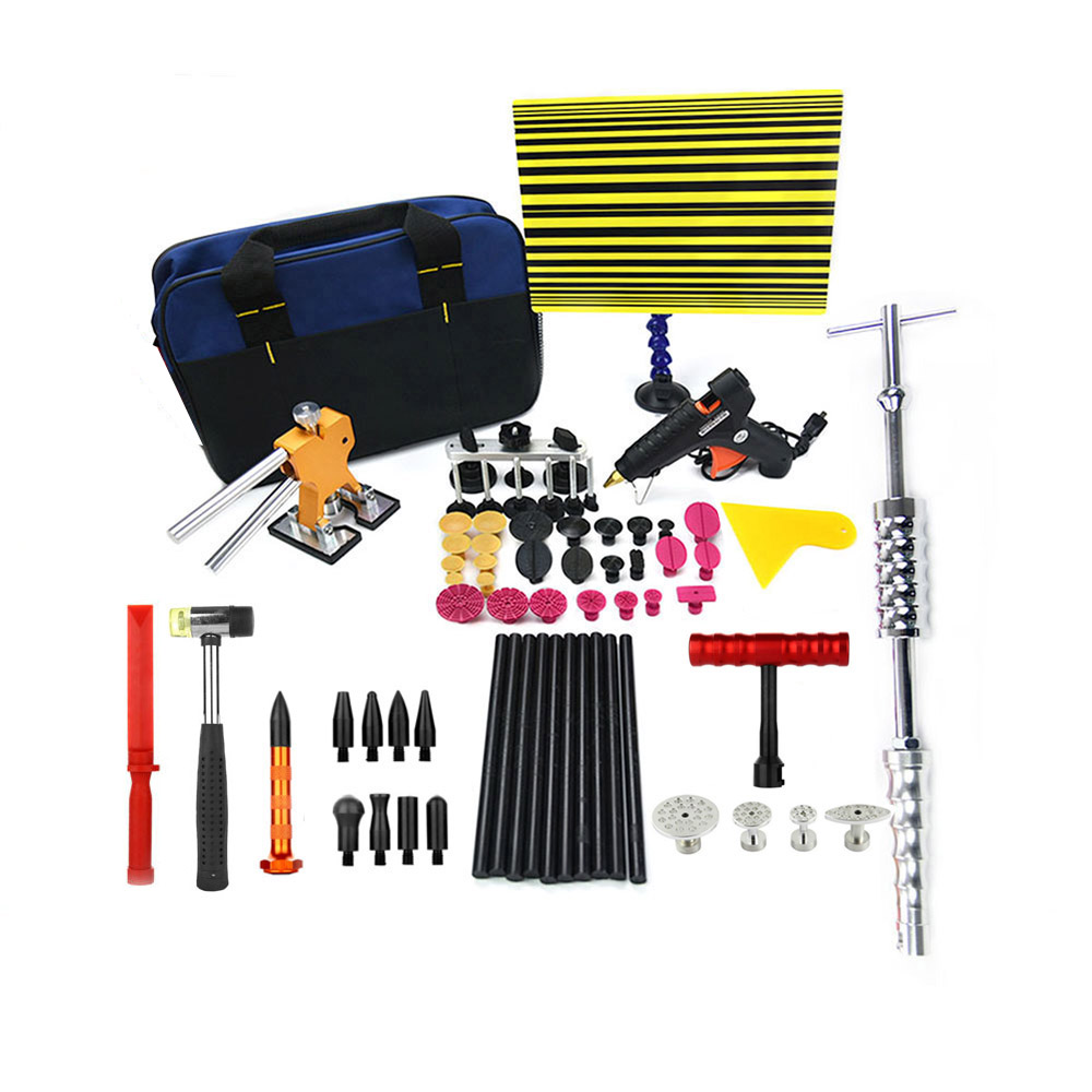 Full set PDR tool Paintless Dent Repair Dent lifter Glue gun Line Board Slide hammer Dent Puller Glue Tabs Suction Cup PDR Tool  paintless dent repair tool pdr kit dent lifter glue gun line board slide hammer dent puller glue tabs suction cup pdr tool set