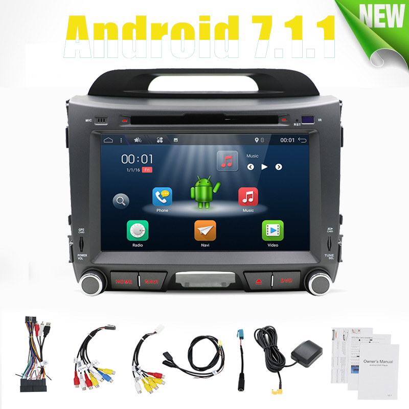 Android 7.1.1 2din for kia Sportage 2010 2011 2012 2013 2014 2015 car 2G 16G Video Multimedia Player GPS Navigation