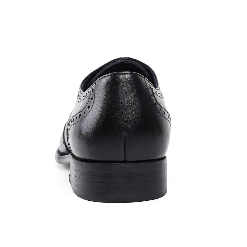 Redondo Dos Couro Vinho Esculpida De Homens Formal Do Handmade Pé Britânicos Novo Js73 Genuíno Vintage Casamento Estilo Festa Homem Calçados Sapatos vermelho Brogue Preto Dedo qafnY6