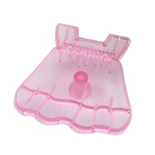 Plastic Lovely Baby Dress Cake Mold Fondant Cutter Decorating Tools Plunger Moldes Color Pink