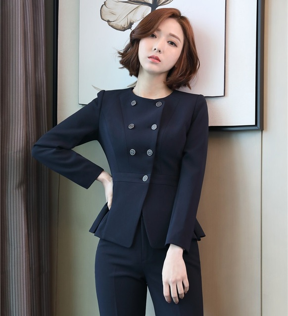 Spring Fall Formal Las Blazers Women Jackets Long Sleeve Elegant Business Clothes Office Uniform Style