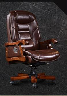 Купить с кэшбэком The boss chair leather chair can lie computer chair home with massage can lift head layer cowhide office chair.8