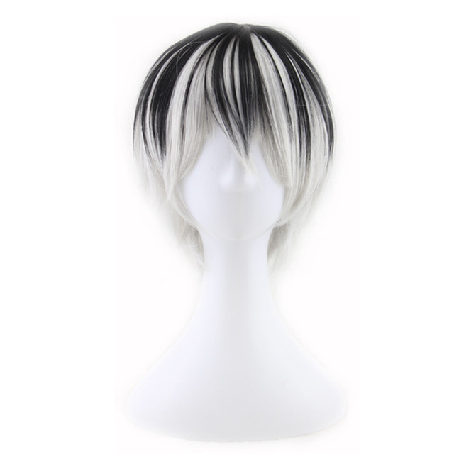 Tokyo Ghoul Short Black Grey Synthetic Wigs
