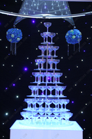 Seven tiers round arcrylic champagne tower, Banquet champagne tower,Party table wine tower