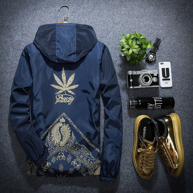 Korean Style Spring and Autumn Men's Hooded Jacket Plus-size Students Popular Thin Cardigan Coat
