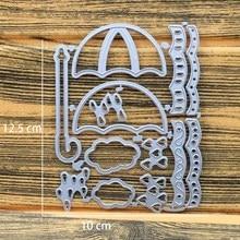 Umbrella Metal Cutting Dies Stencil for DIY Scrapbooking Embossing Dies Craft Photo Album Paper Card Making Stencil Decoration