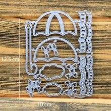 Umbrella Metal Cutting Dies Stencil for DIY Scrapbooking Embossing Dies Craft Photo Album Paper Card Making Stencil Decoration(China)