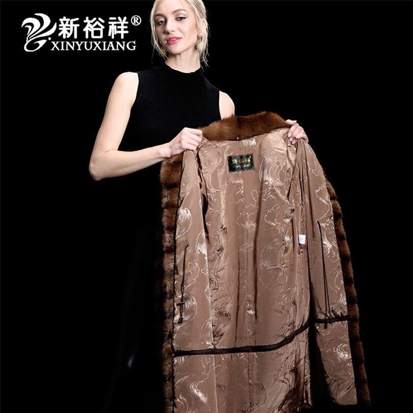 Mode Frauen echte Nerz Pelzmäntel Dicke warme anpassbare Winter - Damenbekleidung - Foto 5