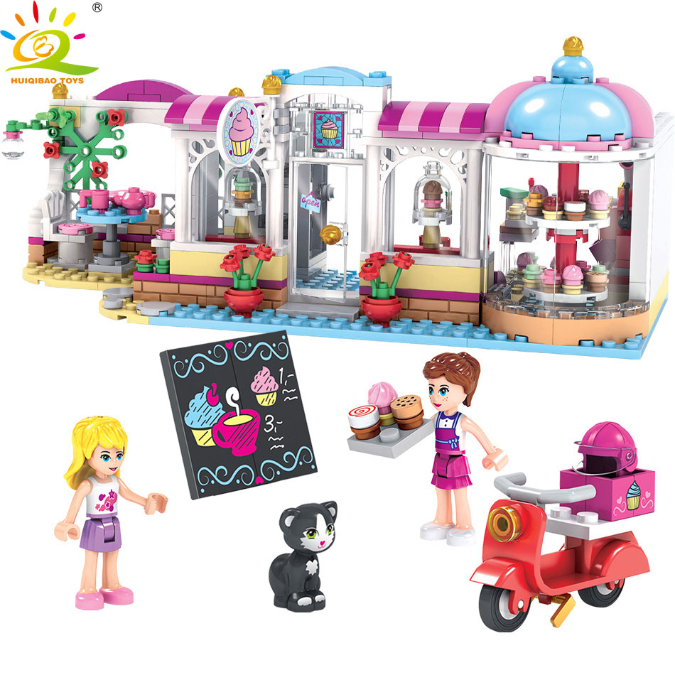 460pcs Friend Cake Girls Club Building Blocks Compatible Legoed Friendship House Bricks Educational Toys for Children 808pcs diy new girls series the friendship house set building blocks bricks friends toys for children compatible legoingly 41340