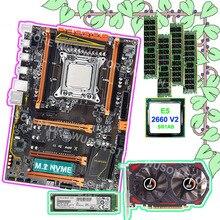 Распродажа HUANAN Чжи X79 материнской связки (bundle) видео карты GTX750TI 2G 128G Накопитель SSD с протоколом NVME 2280 Процессор Intel Xeon E5 2660 V2 Оперативная память 4*8G 1600 RECC