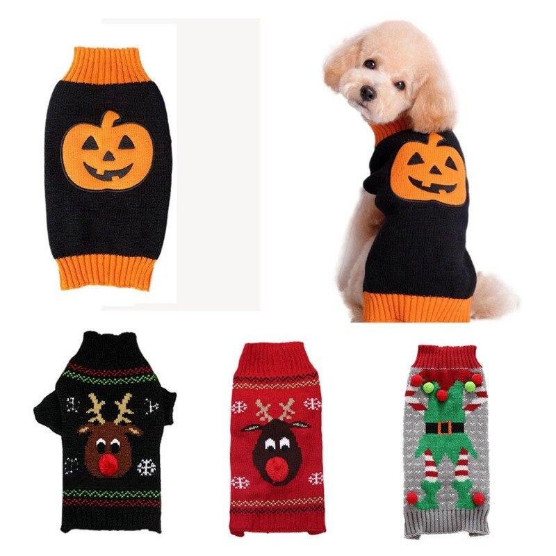 Reno lindo con la nariz roja mascota perro gato suéter a rayas ...