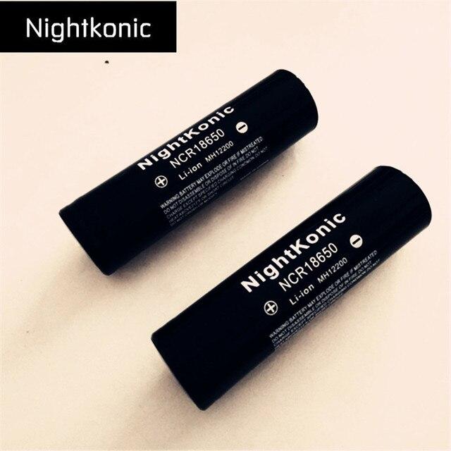 Original 4X18650 Batería 2000 mAh batería recargable NightKonic 3,7 V batería de iones de litio negro