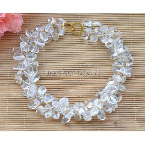Wholesale Pearl Jewelry 3Rows 17 Inches 4-14mm Clean Massive Crystal Necklace - Handmade Jewelry - XZN55 спот 52033 17 10 massive