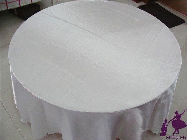 unids barato uuredondo blanco boda manteles de raso