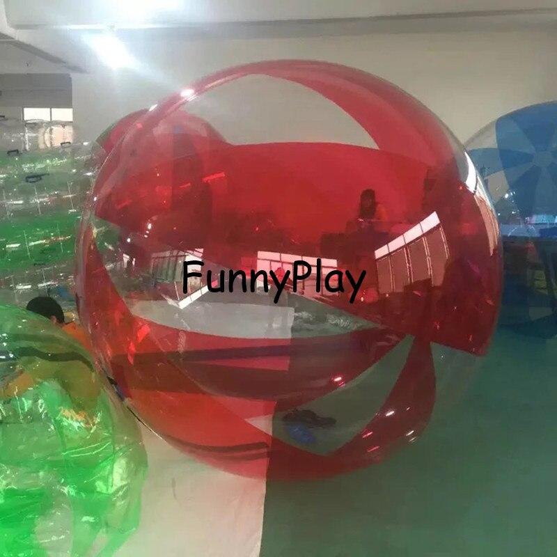 2M blau Wasser zu fuß Ball, Aufblasbare Wasser auf Ball, klar Spaziergang auf Wasser Luftballons Zorbing Huma festival tanzen bälle für zeigen - 5
