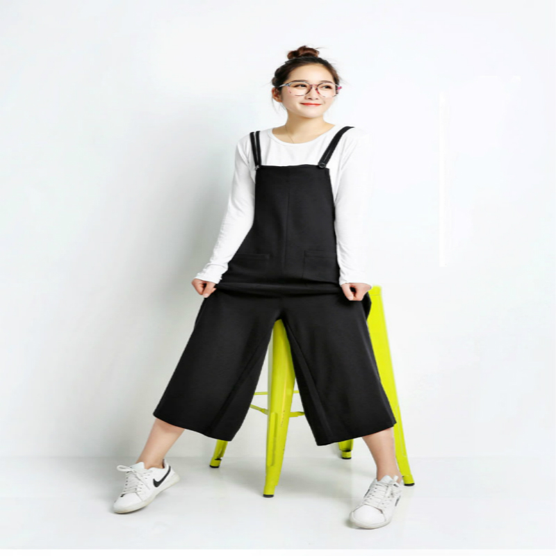 स्प्रिंग समर मेटरनिटी पैंट नई फैशन ढीली जंपसूट फ्लेयर्ड ट्राउजर प्रेग्नेंसी सस्पेंडर्स बिग यार्ड