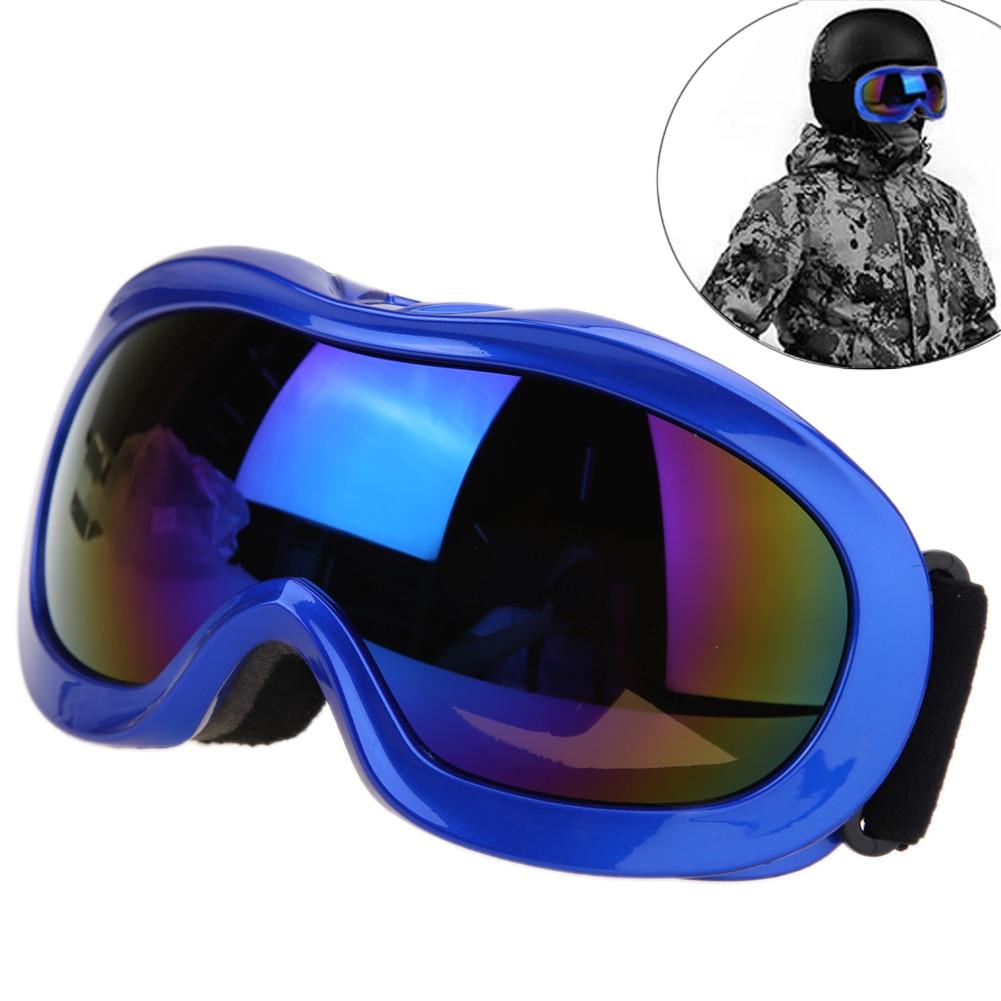 Máscara de Snowboard Snowmobile Ski Skate UV400 Lente Anti-fog Óculos  Esféricos Snowboard Ski Óculos dos homens f5ece64917