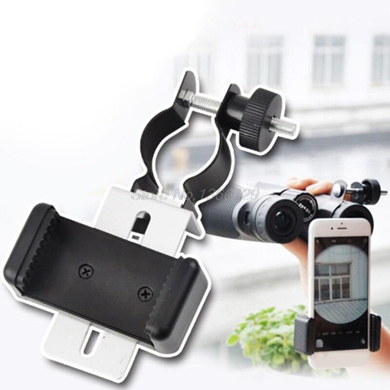 Черный Новый универсальный адаптер для мобильного телефона зажим держатель крепление Микроскоп телескоп аксессуары 2018 NOV09 оптовая продажа...
