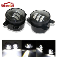 Urbanroad 1 Pair 4'' Inch Fog Light 30W LED For Jeep Wrangler JK 07~13 High Power LED Fog Lamp Auto DRL Lighting Led Headlamp