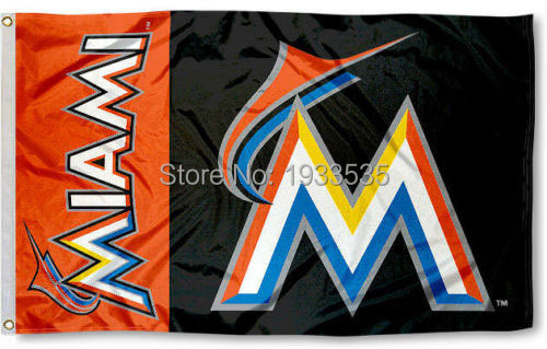 Miami Marlins Flag 3x5 Banner
