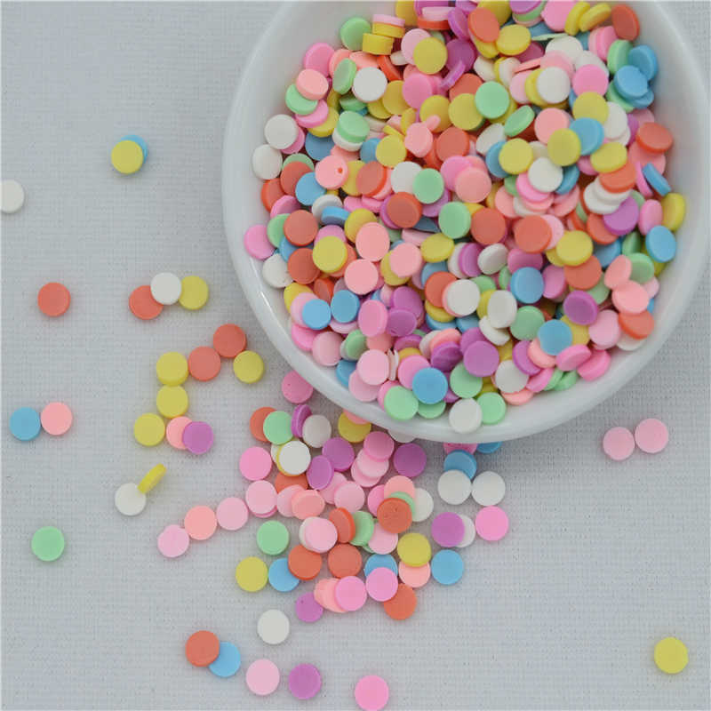 50g/lot Polymer Hot Clay Fimo Sprinkles Lovely Dot/Round/Circle for Crafts Making, DIY Confetti